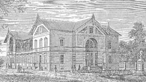 Původní plán Hankova Domu z roku 1868